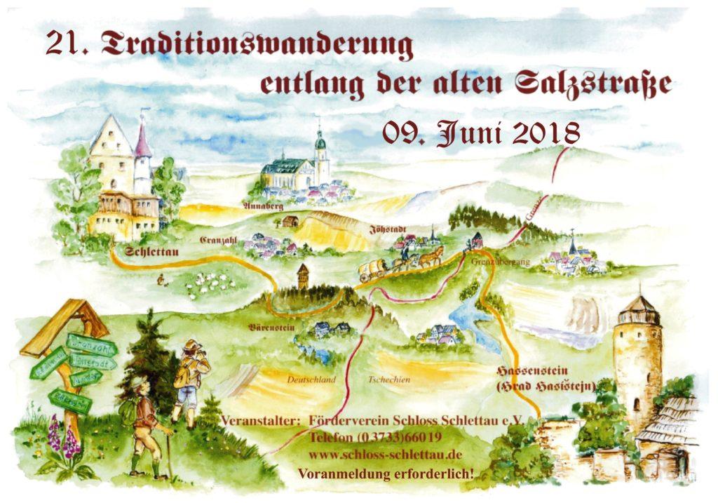 Plakat_21. Traditionswanderung Schlettau-Hassenstein_09.06.2018
