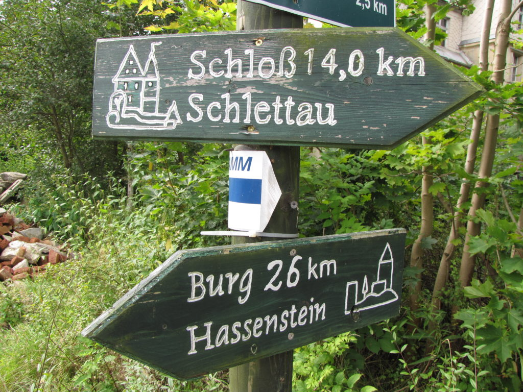 Wanderschilder Hassenstein-Schlettau