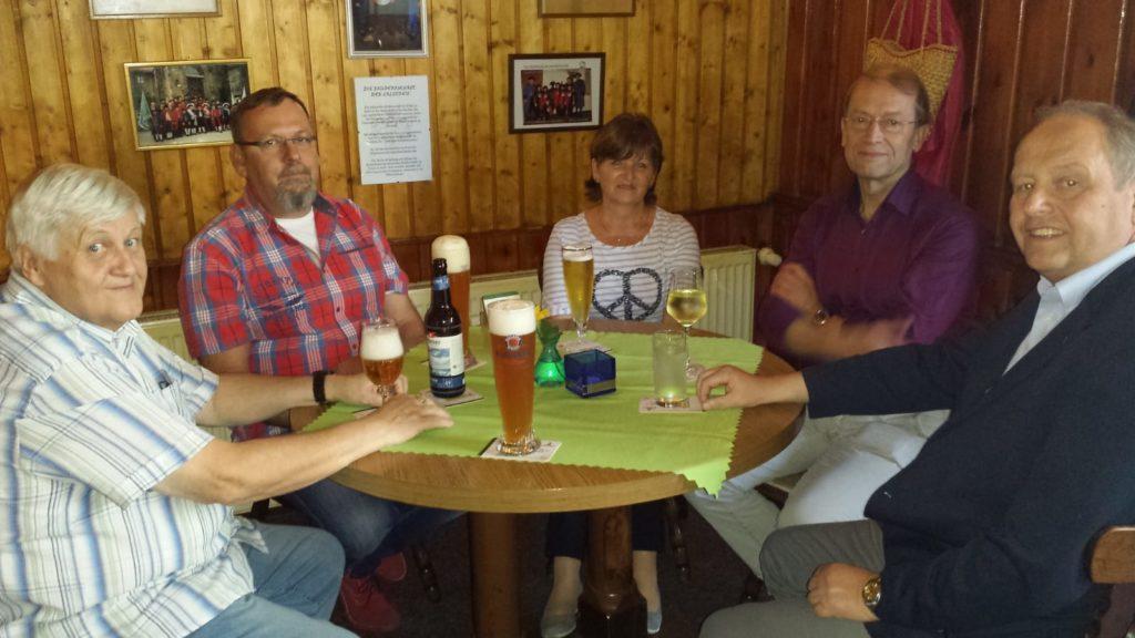 Besuch einer Delegation des Heimatvereins der Stadt Waldheim im Halloren und Salinemuseum, unter Leitung des Vorstandes des Vereins alte Salzstrasse Halle-Prag